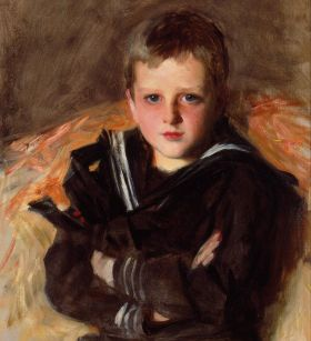 John Singer Sargent's portrait of a boy sitting on the chair