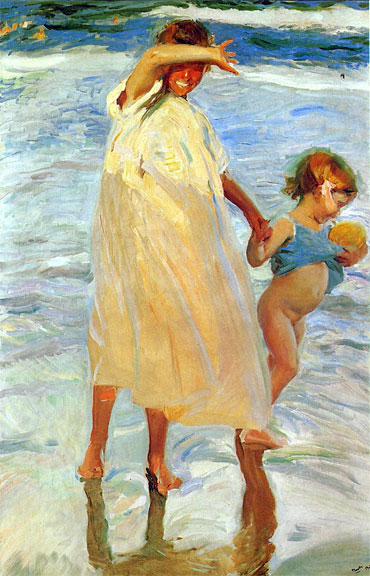 Sorolla Painting - Two Sisters