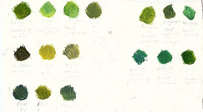 painting andscape make green color chart