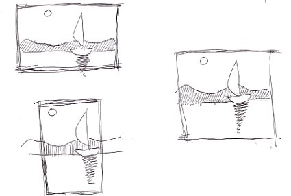 make thumbnail sketches to frame your subject