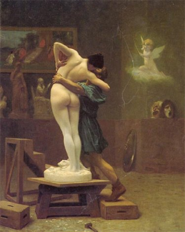 Jean Leon Gerome- Pygmalion and Galatea