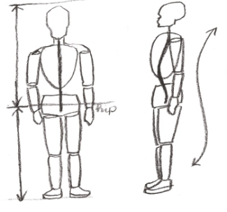How To Draw Human Proportions on gesture shapes