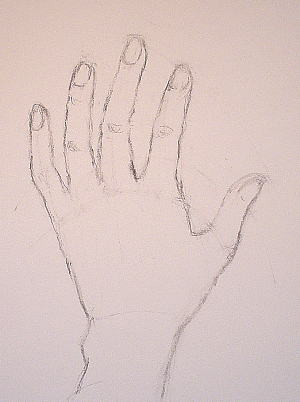 A Drawing Of A Hand