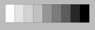 gray scale for identifying values in colors