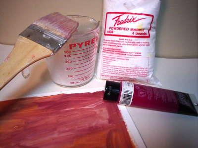 Make pastel sanded papers