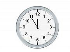 a clock's hands used as drawing checkpoints