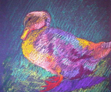 oil pastel technique demo duck 4