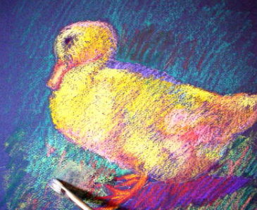 oil pastel technique demo duck 8