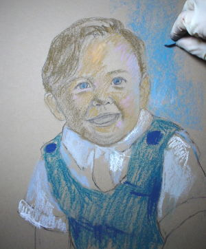 pastel portrait demo 3
