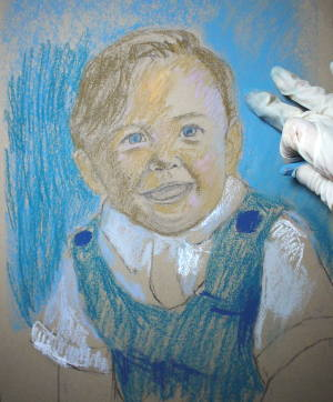 pastel portrait demo 4
