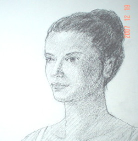 pencil drawing of a face