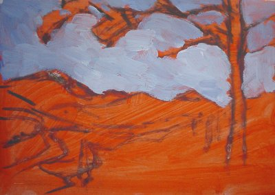 mountain view plein air painting 2