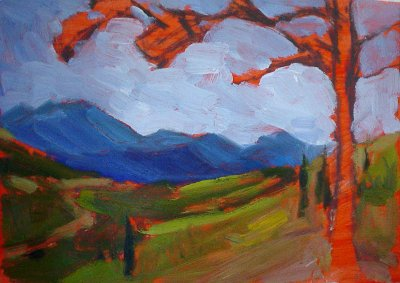 mountain view plein air painting 3