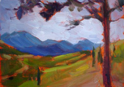 mountain view plein air painting 4