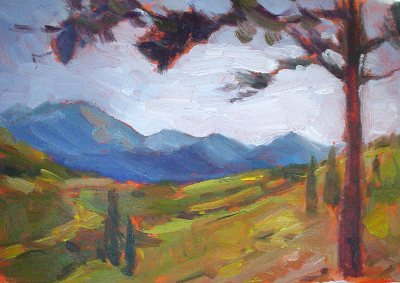 mountain view plein aire painting 5