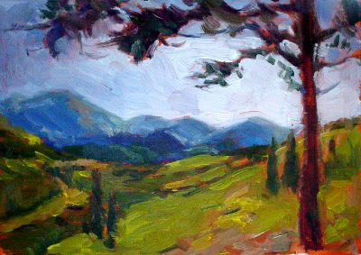 mountain view plein aire painting 7