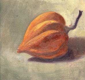Orange squash, oil painting
