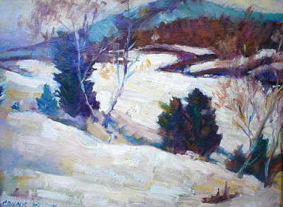 my oil painting gallery - snow scene