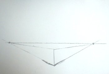 2 point perspective drawing a box