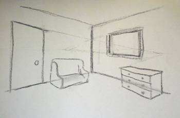 2 Point Perspective Draw Interiors