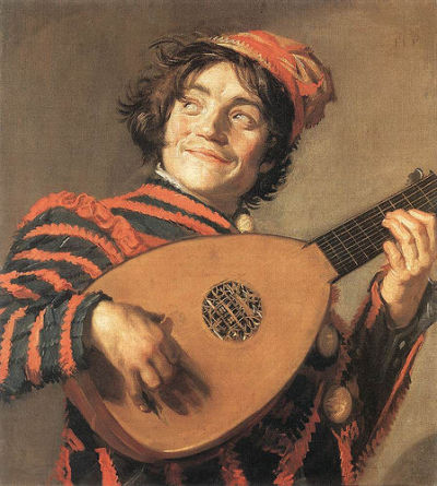 Frans Hals - Buffoon Playing A Lute