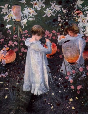 John Singer Sargent's portrait of two girls with lanterns