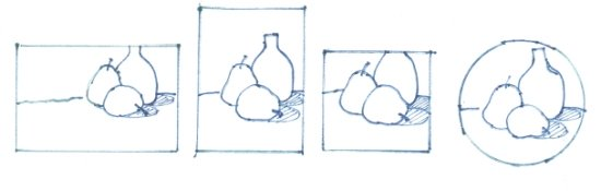 choose the right format in designing a drawing and a painting