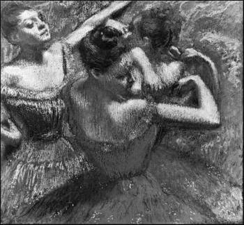 Degas dancers black/white version