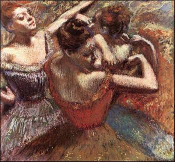 Degas dancers color version