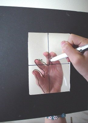drawing tutorials-drawing your hand onto a picture plane