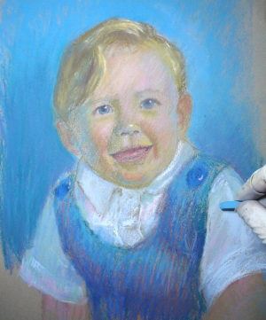 pastel portrait demo 7
