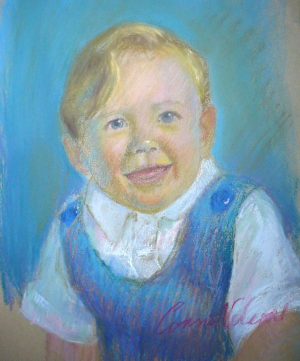 pastel portrait demo 9