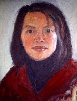 self portriat of Connie Nelson-artist behind