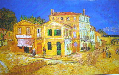 Vincent Van Gogh used split complementary colors in his paintings.