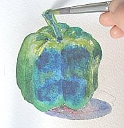 watercolor demo pepper 6/7